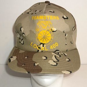 Teamsters Local 400 Snapback Hat Camouflage